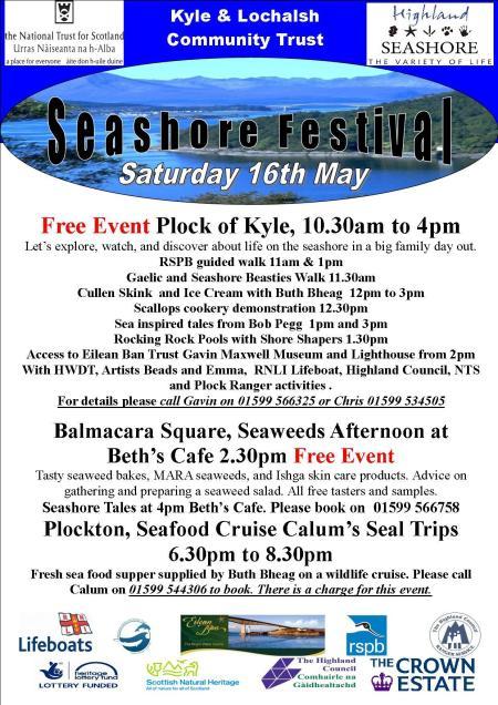 Seashore Festival - Plock of Kyle Sat 16th May